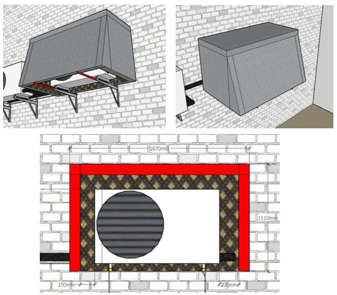 короб для звукоизоляции кондиционера