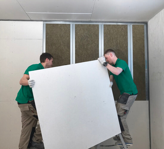 Шумоизоляция стены в квартире (МаксФорте-SoundPRO + МаксФорте-ЭКОплита).